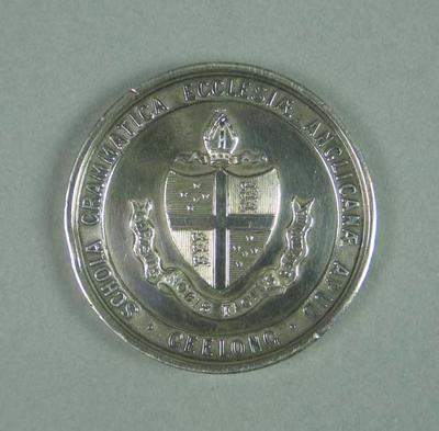 Medal, Geelong Grammar School swimming sports School Championship 1913