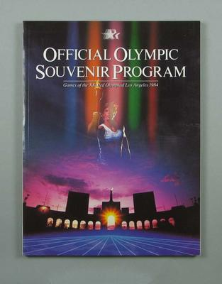 Programme, 1984 Los Angeles Olympic Games; Documents and books; 1991.2479.6