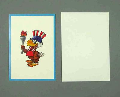 Greeting card, 1984 Olympic Games mascot design; Documents and books; 1991.2479.10
