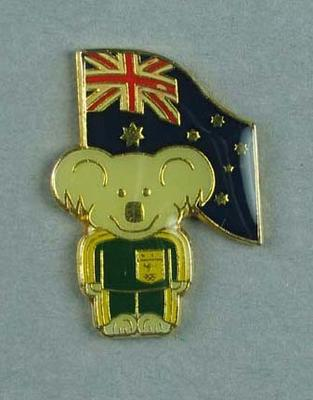 Pin issued to Australian team, 1984 Olympic Games; Clothing or accessories; 1991.2479.11