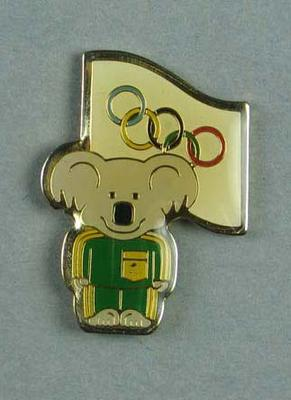 Pin issued to Australian team, 1984 Olympic Games