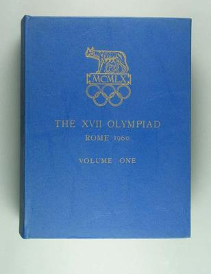 Organising Committee report of 1960 Rome Olympics, Vol 1