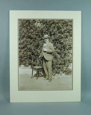 Mounted black & white photograph of Benjamin Wardill