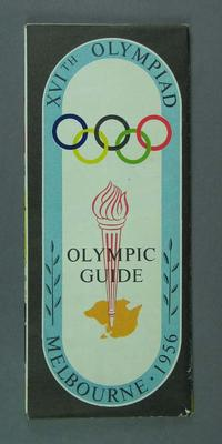 Map - Olympic Guide Map Melbourne 1956