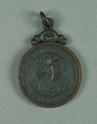 Bronze medal awarded to Ivan Stedman, 500 yards Team Championship 1920