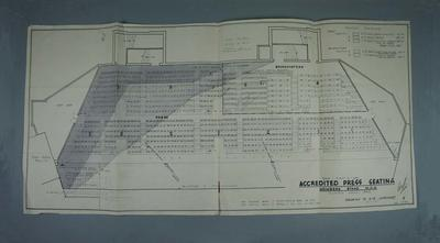 Seating plan for Accredited Press Section of MCG Members' Stand, 1956 Olympic Games