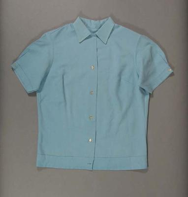 Shirt, worn by Rita Smeets for ten pin bowling competitions c1960s