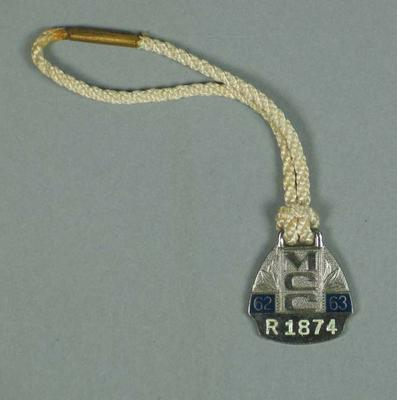 Restricted membership medallion issued by the MCC for season 1962/63