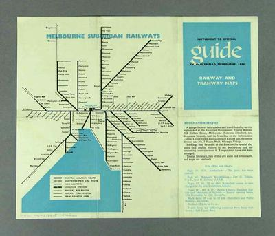 Railway and tramway route map, 1956 Olympic Games