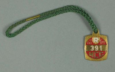 Restricted membership medallion issued by the MCC for season 1968/69