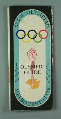 """Map, """"Olympic Guide XVIth Olympiad Melbourne 1956"""""""