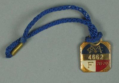 Full membership medallion issued by the MCC for season 1978/79