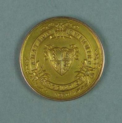 Gold medal won by Ivan Stedman, Amateur Swimming Association 200 yards breast stroke championship - 1920