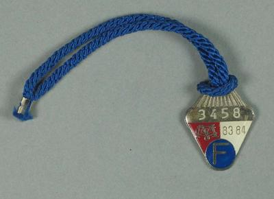 Full membership medallion issued by the MCC for season 1983/84