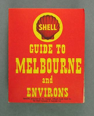 Map, Shell Guide to Melbourne and Environs c1956; Documents and books; 1992.2656.5