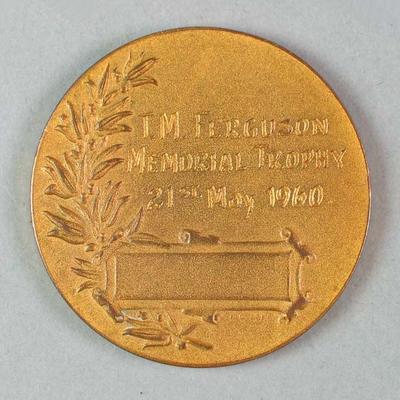 Medal - T.M. Ferguson Memorial Trophy - Hawthorn FC & Melbourne FC, 1960; Trophies and awards; M3589