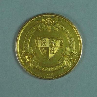 Gold medal won by Ivan Stedman, Amateur Swimming Association 100 yards Championship - 1920