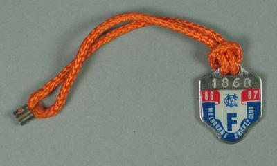 Full membership medallion issued by the MCC for season 1986/87
