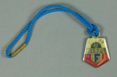 Full membership medallion issued by the MCC for season 1987/88