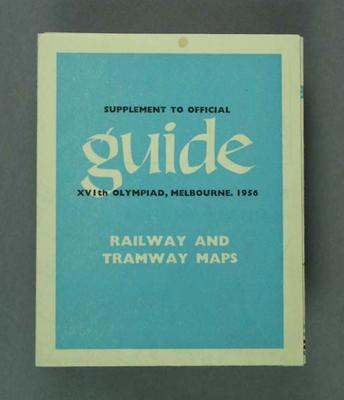 Map of Railway and Tramways, 1956 Olympic Games Official Guide