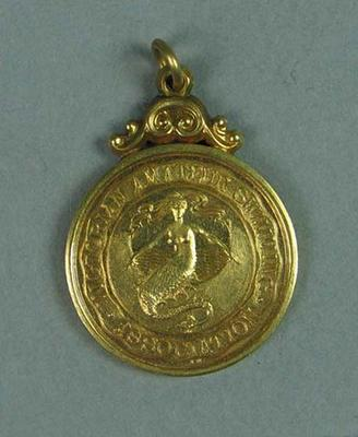 Gold medal won by Ivan Stedman, 100 yards Championship of Victoria 1920-21