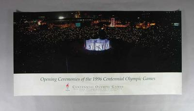 Poster, 1996 Atlanta Olympic Games Opening Ceremony