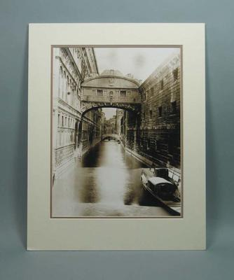 Photograph of the Bridge of Sighs in Venice, from Frank Laver's album c1899
