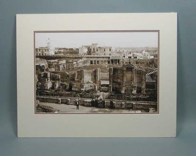 Photograph of the ruins at Pompeii, Italy, c1909