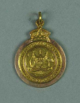 Gold medal won by Ivan Stedman, 440 yards breast stroke Championship of Australia 1920-21