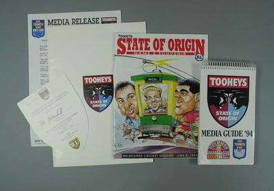 Media kit, Rugby League State of Origin 1994 - Game 2 MCG; Documents and books; Documents and books; Documents and books; Documents and books; Documents and books; Documents and books; 1996.3158