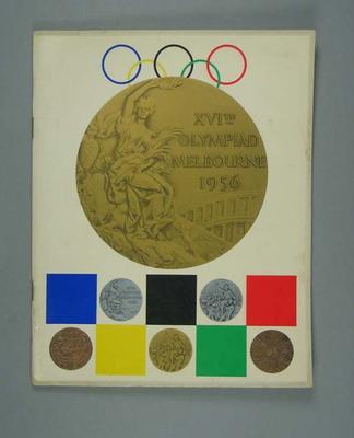 Book - XVIth Olympiad Melbourne 1956 - souvenir