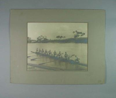 Photograph of Essendon Rowing Club team, c1920s