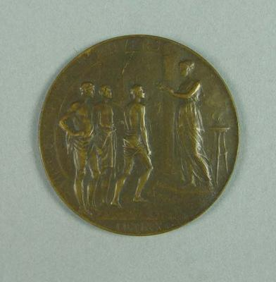 1920 Olympic Games bronze participation medallion, presented to Frank Beaurepaire