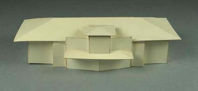 Small architectural model - proposal for Australian Gallery of Sport Museum