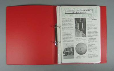 Red folder and documents  belonging to Renton Smith MCG/AGOS guide