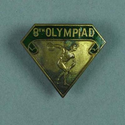 """Badge, """"8th Olympiad"""""""