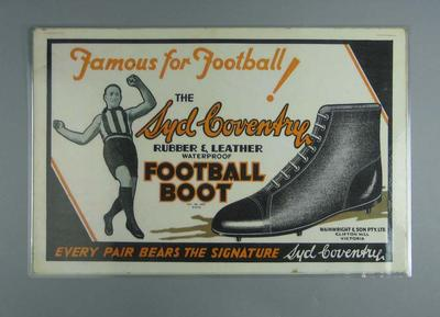 Copy of 1930s Football Boot poster - 'Famous for Football, the Syd Coventry ...Football Boot'