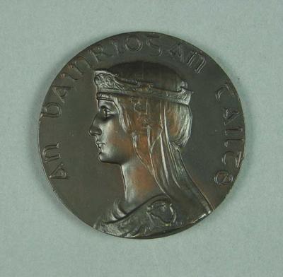 Bronze medal presented to Ivan Stedman, Tailteann Games - 1924