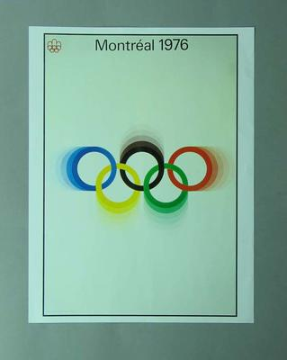 Poster, 1976 Montreal Olympic Games; Documents and books; 1996.3203.6