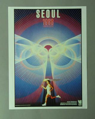 Poster, 1988 Seoul Olympic Games; Documents and books; 1996.3203.3