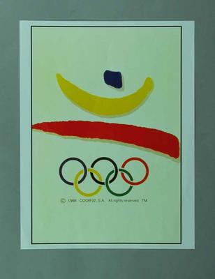 Poster, 1992 Barcelona Olympic Games; Documents and books; 1996.3203.2