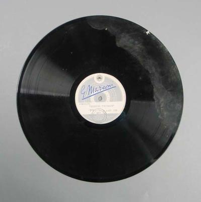 Vinyl record of 3AW Bendigo Thousand broadcast, 1953