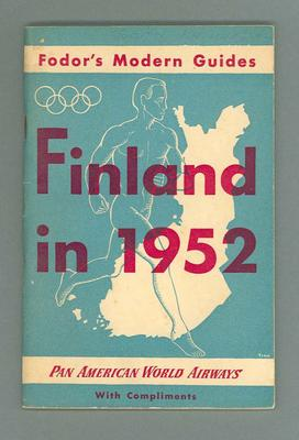 Paperback - 'Fodor's Modern Guides, Finland in 1952' used by Ben Kerville during 1952 Helsinki Olympic Games