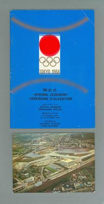 Programme & Postcard - 1964 Tokyo Olympic Games Opening Ceremony 10/10/64