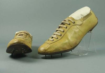 Shoes worn by John Landy during 1500m and one mile races in Finland, 1954