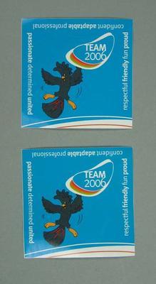 Mascot 'Karak' stickers - 'Team 2006', Melbourne Commonwealth Games