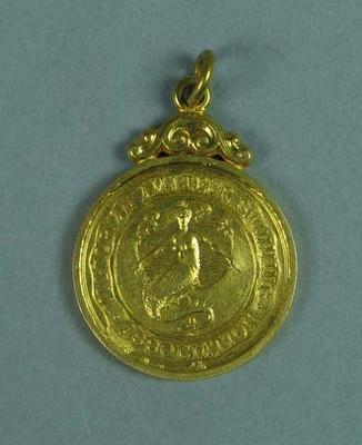 Gold medal won by Ivan Stedman, 440 yards Championship of Victoria 1926
