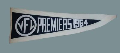 1964 VFL Premiership pennant, won by Melbourne FC; Flags and signage; M15884