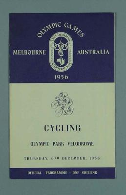 Programme for 1956 Olympic Games cycling events, 6 December