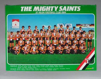 Photograph of St Kilda Football Club, 1984